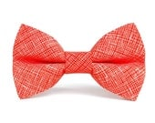 Dog Bow Tie, Dog Bow, Deep Orange (Orange), Removable Dog Style Accessory for Pet Collar