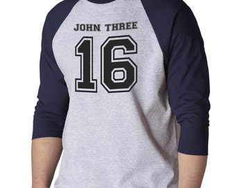 AproJes John 3 16 Bible Verse God Jesus Love Christian Baseball Shirt for Men