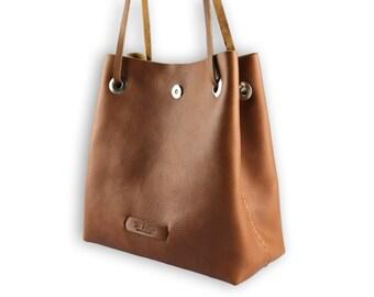 Posh bucket bag #toxleather   Taba leather bucket   Handmade shoulder   Crossbody bag