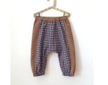 JUN - samurai pants. Home sewn. Fabric from Japan. Fits between 3 - 5 years old, 100 cm height