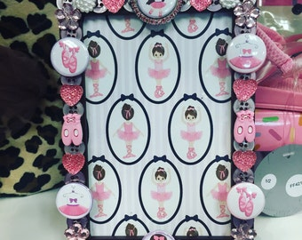 Tiny Dancer button picture frame