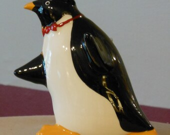 Vintage Ceramic Penguin Wall Hanging