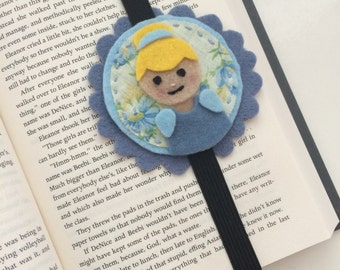 Cinderella felt bookmark