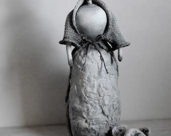 Paperclay/Paper Mache Art Doll ~ OOAK Art Doll ~ 'Valentina'