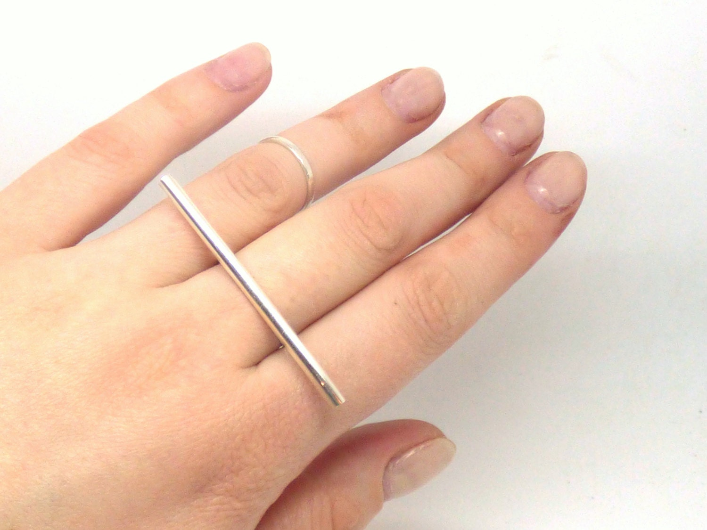 bar ring single line ring statement ring modern jewelry