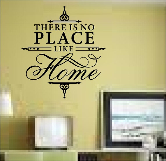 there is no place like home family wall quote home decor wall. Black Bedroom Furniture Sets. Home Design Ideas