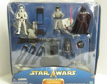 Star Wars Saga Imperial Forces Figure Toys in Sealed Box.