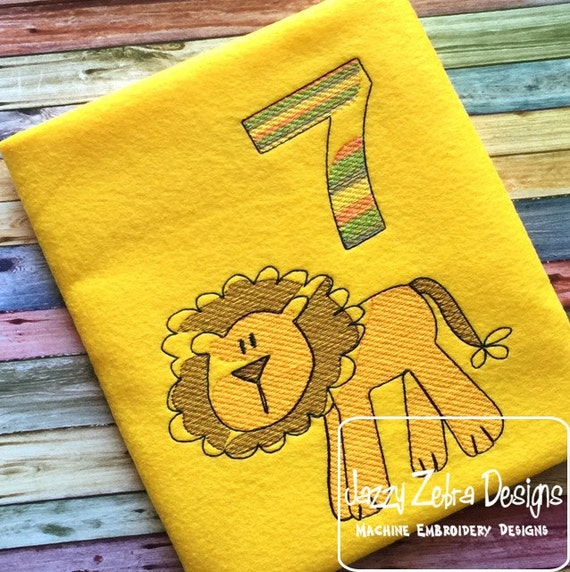 Lion Sketch Embroidery Design - zoo Sketch Embroidery Design - circus Sketch Embroidery Design - safari Sketch Embroidery Design - mascot