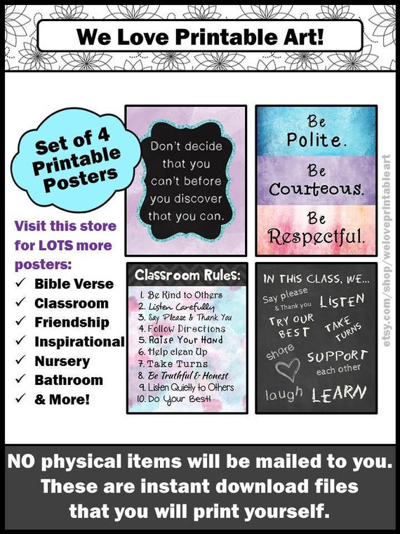 School Bathroom Rules classroom rules for teachers and students back to school