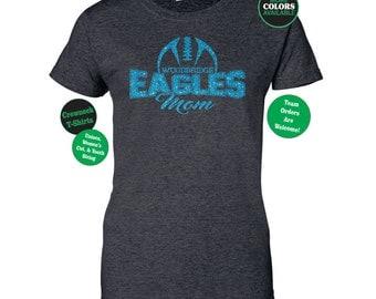 FOOTBALL MOM SHIRT. Football TShirt. Team Football Shirt. Mascot Football Shirt. Football Team Shirt. Sports Team. Football Laces Shirt.