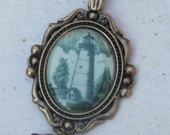 Charming Vintage Lighthouse Necklace