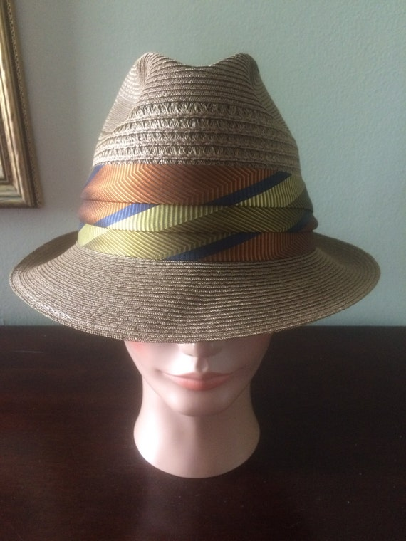 mens bee cool straw fedora hat