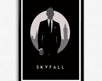 James Bond Skyfall Minimalist Printable Movie Poster