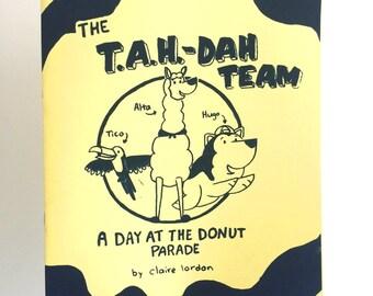 Comic Book - The T.A.H.-DAH TEAM, the tag-dah team mini comic