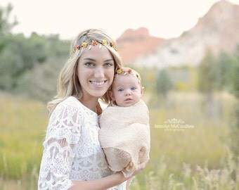 Mommy and Me Crown, Mommy and Me Floral Crown, Mommy and Me Fall Floral Crowns, Flower Crowns, baby flower crown, mommy and me minis