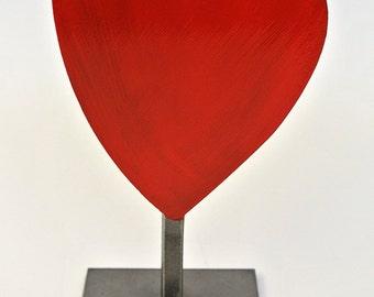 Heart metal sculpture, love, engagement, wedding gift