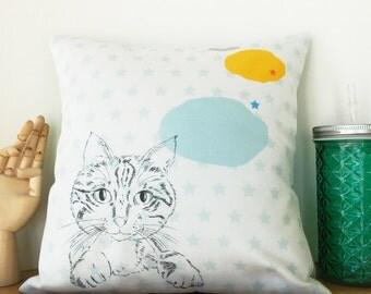 Square cushion Cat Lady 11' x 11'