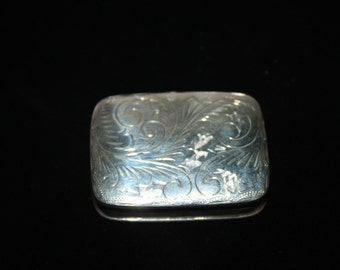 Vintage Sterling Tin Signed M free US shipping
