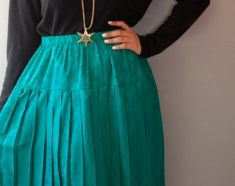 SALE!!SALE!! Holiday Sale 20%off!!! Green Midi Skirt/ Green Maxi Skirt/ Skirt/ Green Skirt/ Elastic Waist Skirt/ Midi Skirt/ Short Skirt