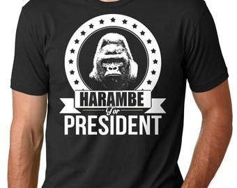 Harambe T Shirt Harambe For President Tee Shirt Funny Political Election 2016 Tee Shirt