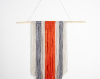 Colorful Vibrant Rustic Wall Yarn Hanging