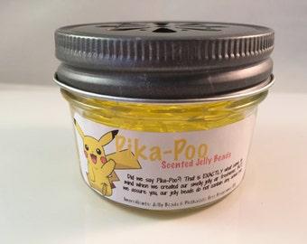 Pika-Poo Air Freshener -  Pika Poop Scented Jelly Beads - Pocket Monster Scented Gel Beads - Gel Air Freshener - Room Deodorizer - 4 oz