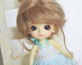 bjd doll girl wig W-F160 (1 color) 1/12 lati white fl pukipuki