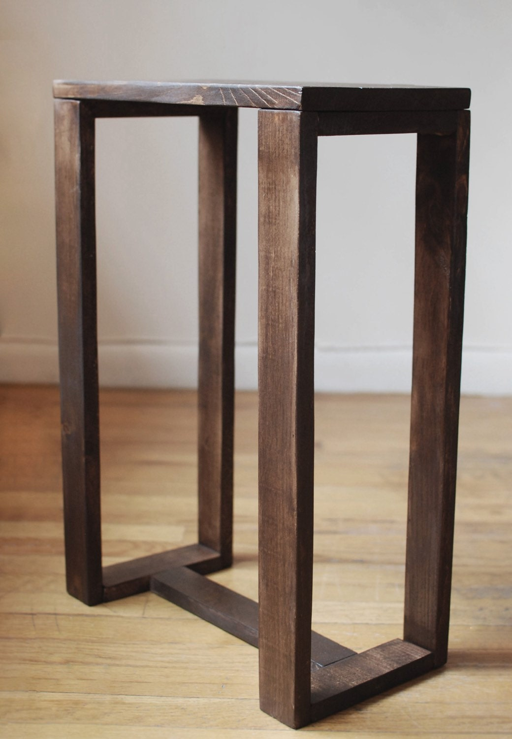 reclaimed wood thin side table end table nightstand