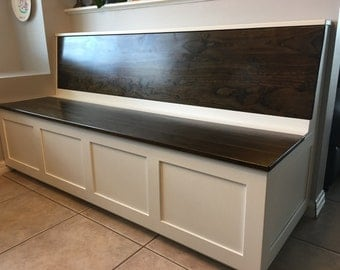 Shaker Wood Storage Bench