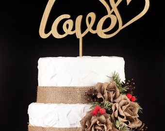Wedding Cake Topper, Love, Cake Topper, Custom Cake Topper, Love Cake Topper