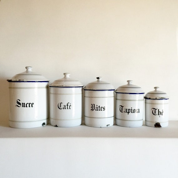 enamel kitchen canisters french enamel canister set set of 5 white enamel canisters 8101