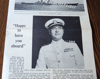 WWII History The Missourian Navy Day 1945
