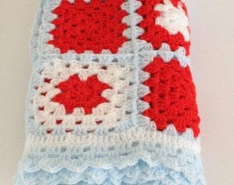 baby blanket, Crochet blanket, crochet baby blanket, crochet kids blanket, crochet throw, granny square blanket, handmade afghan blanket,