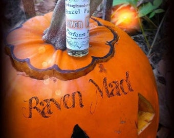 Raven Mad Perfume - Pumpkin Perfume Oil - Sandalwood Fragrance - Halloween Perfume - Harvest Perfume Oil - Vegan Perfume - Fall Fragrances