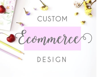 Custom ecommerce website design, wordpress theme, web design with shopping cart