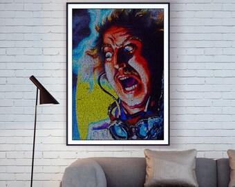 Dr. Frankenstein. Young Frankenstein Typographic Movie Poster Script Print