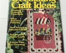 DECORATING and CRAFTS MAGAZINE,vintage Spring decorating,vintage Spring crafts,quilting patterns,home decor magazine,vintage ephemera