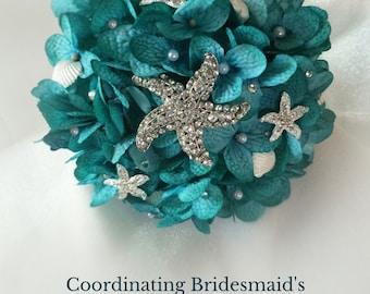 Beach Bouquet, Bridesmaid Bouquet, Brooch Bouquet, Destination Wedding Bouquet, Mini Bouquet