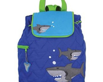 Personalized Shark Toddler Book Bag, Backpack, For Nursery School or Back To School