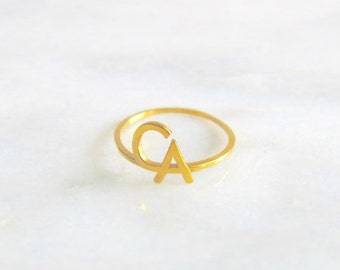 CA 14k Gold Pinky Ring or Midi Ring