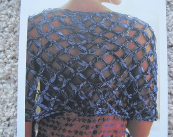"Crochet Pattern - Open Weave Shawl - 17"" x 60"""