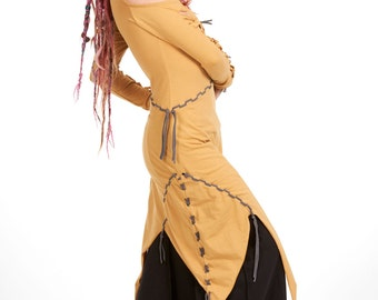 PSY FAERIE DRESS, tribal Goa festival hippy pixie medieval viking renaissance psy trance clothing Burning Man dress asymmetric