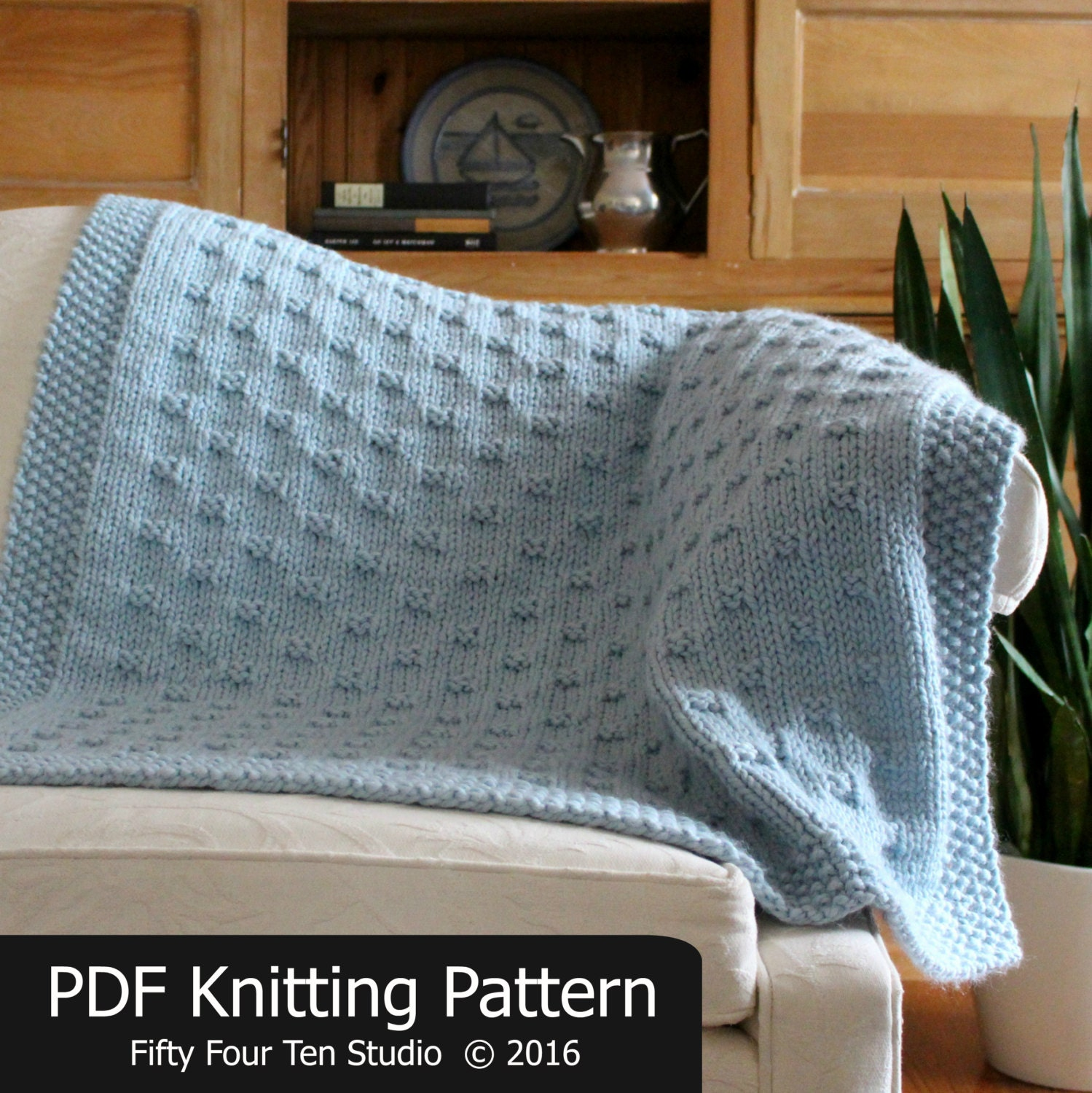Knitting Pattern Blanket Throw : Blanket KNITTING PATTERN / Belleview Blanket / Throw / Afghan
