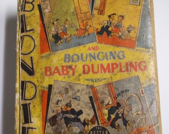 Blondie and Bouncing Baby Dumpling Whitman Better Little Book #1476 1940 Vintage BLB