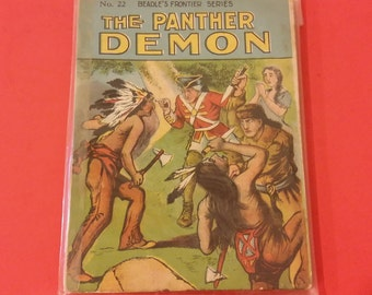 Vintage 1909 Beadle's Frontier Series, #22 The Panther Demon