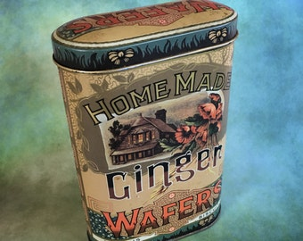 Vintage tin container designed by Daher made in England