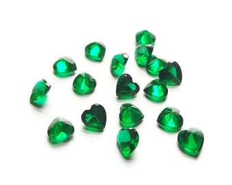 May Birthstone Crystal Heart Floating Charm for Floating Lockets-Emerald Green-5mm-1 Piece-Gift Ideas