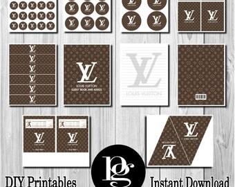Louis Vuitton Party | Louis Vuitton Printable | Louis Vuitton Party Package | DIY Louis Vuitton | Louis Vuitton Birthday Party | LV Party