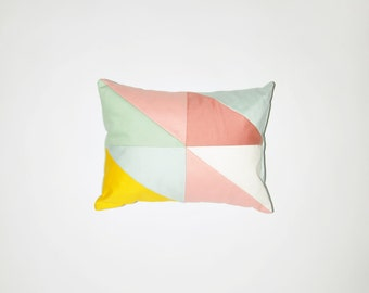 Little spring GEORGIA,  geometric  patchwork cushion