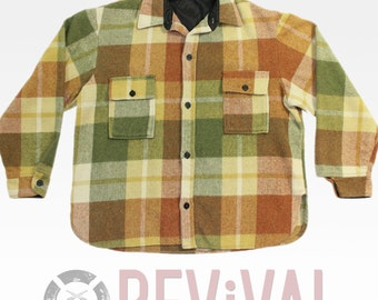 Vintage Retro Plaid Shirt ~ Size L